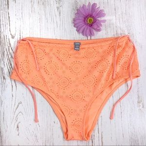 Aerie orange crochet high waisted bikini bottoms